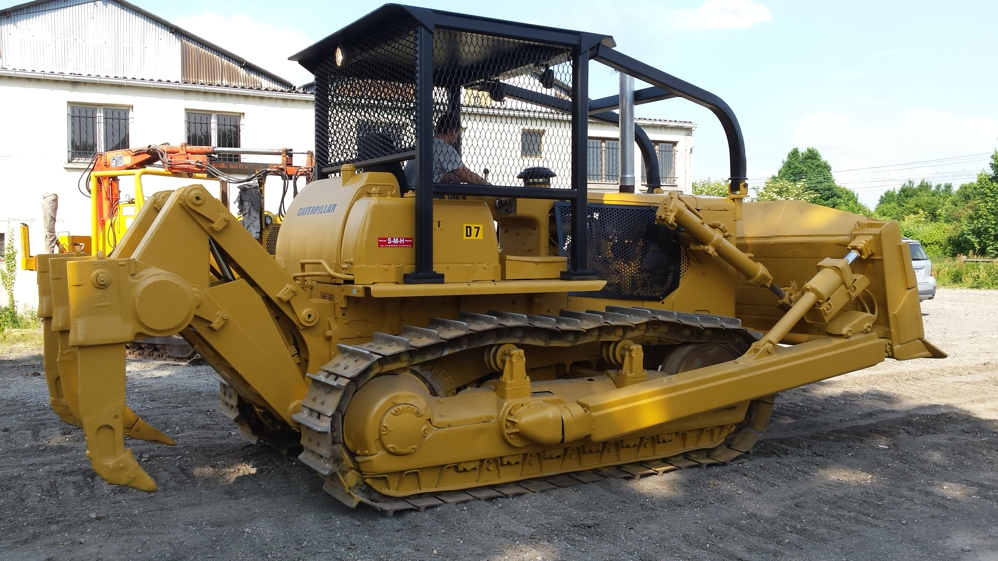 bulldozer caterpillar type d7g d 39 occasion soredine mat riels de travaux publics. Black Bedroom Furniture Sets. Home Design Ideas